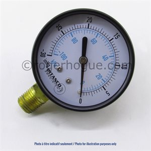 -30'' HG-30PSI 2.5'' MANOMETER