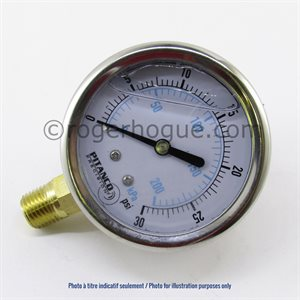 -30'' HG-0PSI 2.5'' LIQUID FILLED MANOMETER