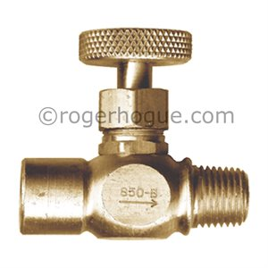 VALVE POINTEAU 1/4FNPT X 1/4MNPT (GAZ CSA)